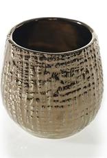 "Hazel Pot,  3x3.5"", Bronze & Gold"