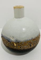 "4"" Round Stoneware Ombre Reactive Glaze Vase"