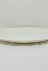 "Fortis Oval White Platter, L12"" W8"""