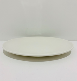 "Fortis Oval White Platter, L10"" W7.25"""