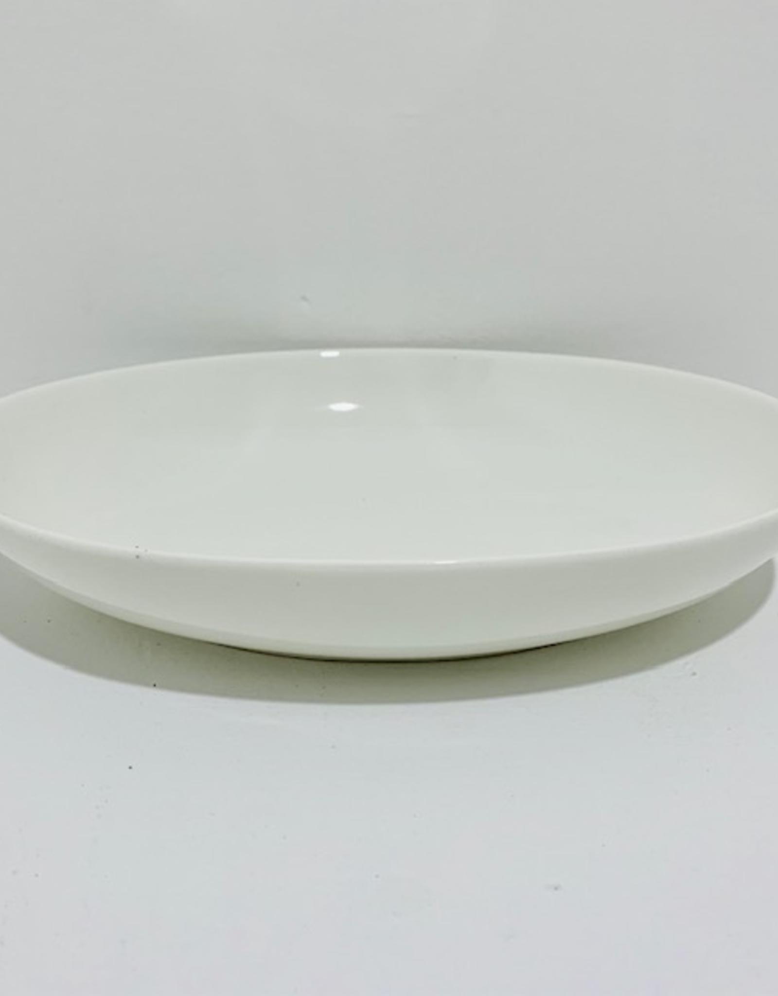 "Oval White Serving Dish, L9"" W6.5"""