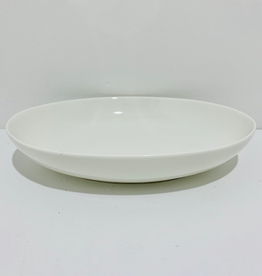 "Oval White Serving Dish, L9"" W6.5"""