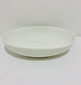 "Oval White Serving Dish, L7"" W5.5"""
