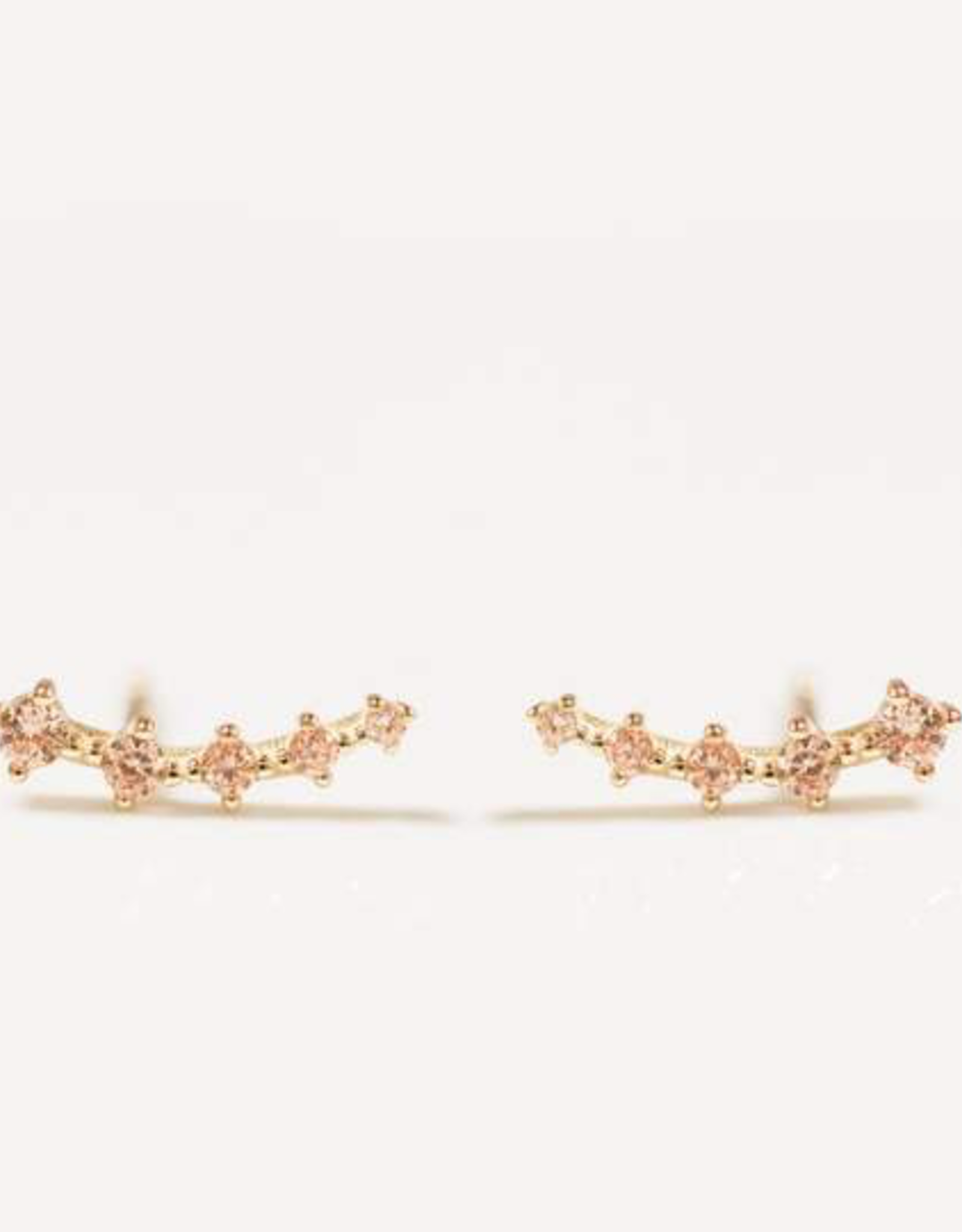 Earrings, Crawler, Champagne