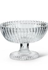 "L3.5"" H2.75"" Oval Glass Pedestal Dish"