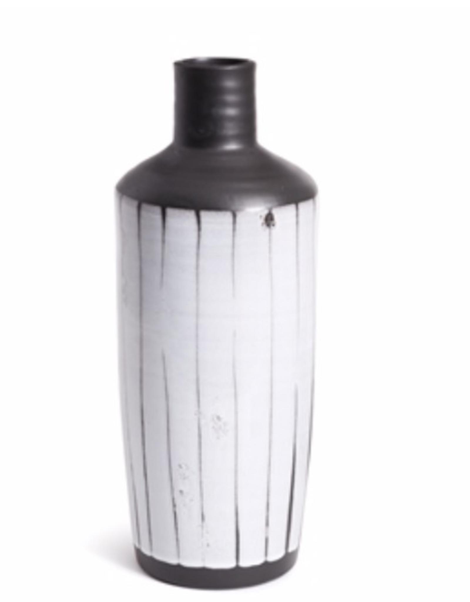 """Mombasa Stripe Bottle, D6.5"""" H16.75"""""""