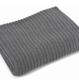 """Cotton Throw, Nate Charcoal, L50"""" H60"""""""