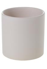 """Large Matte White Cercle Pot D6.5"""" H6.25"""""""