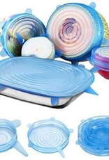 Silicone Bowl Covers, Set of 6