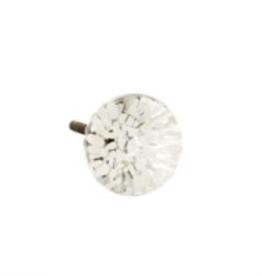 Knob, Glass Anemone, White