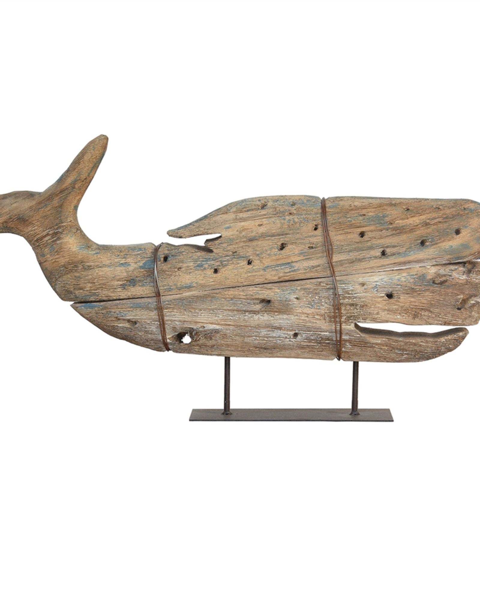 Kelso Wood Sperm Whale On Stand