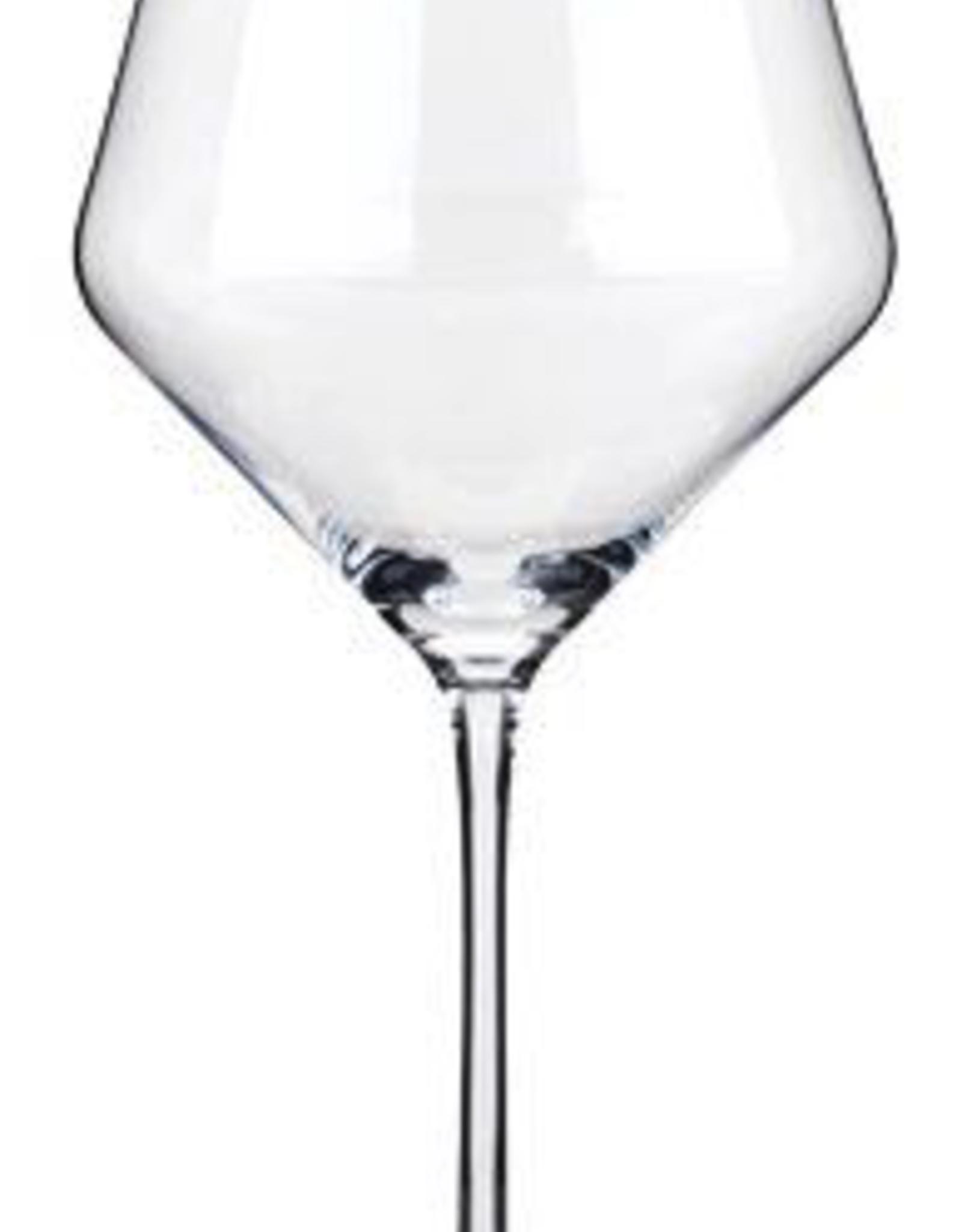 Glass, Burgundy, Angled Crystal