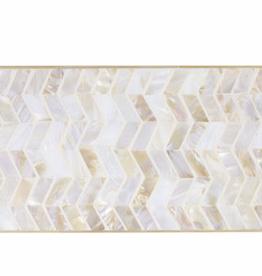 Rectangular Board, Shell Mosaic & Bamboo