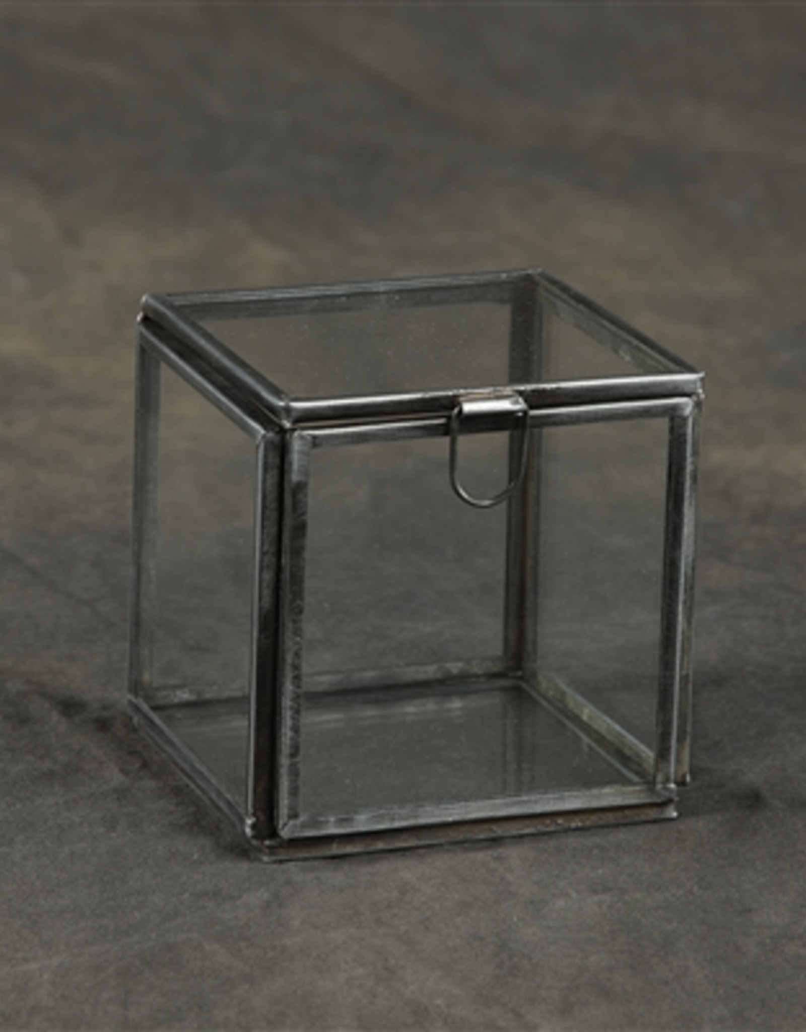 Pierre Glass Box, Demi Leaded,Small, Zinc