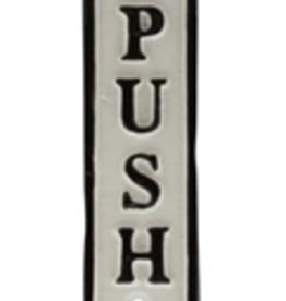 Sign, Push, Cast Iron
