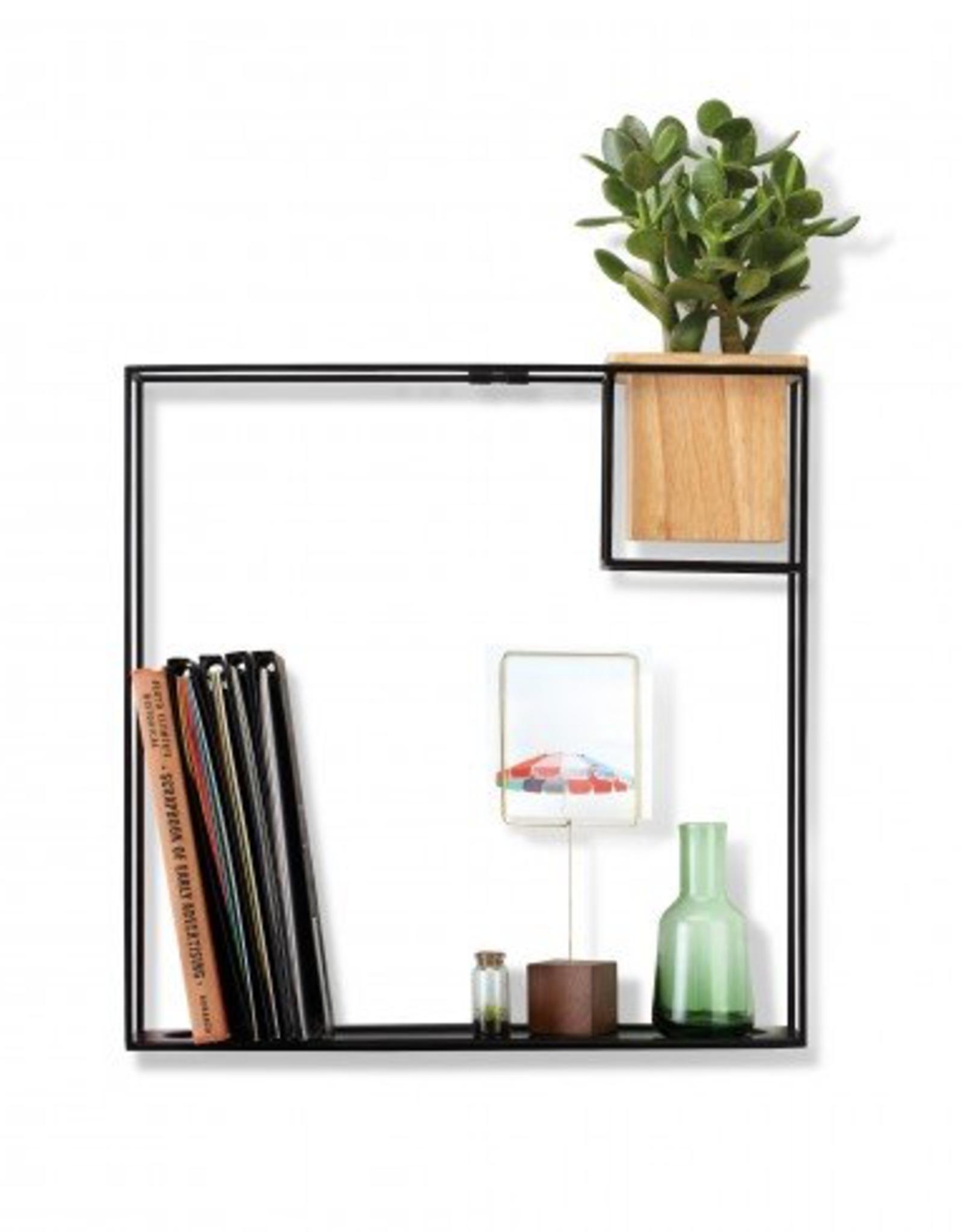 Wall Display, Cubist, Lg, Sand/Black