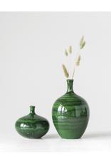 """5 1/2"""" Rd. x 5""""H Malachite Glaze Vase"""