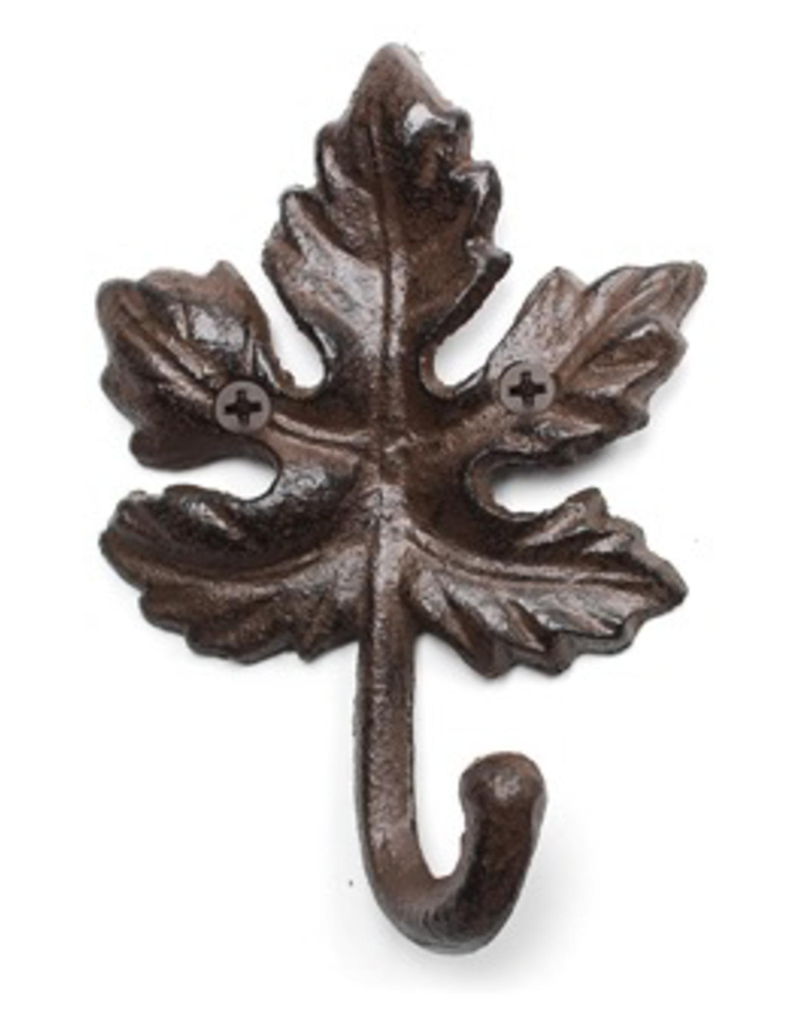 Cast Iron Maple Leaf Hook