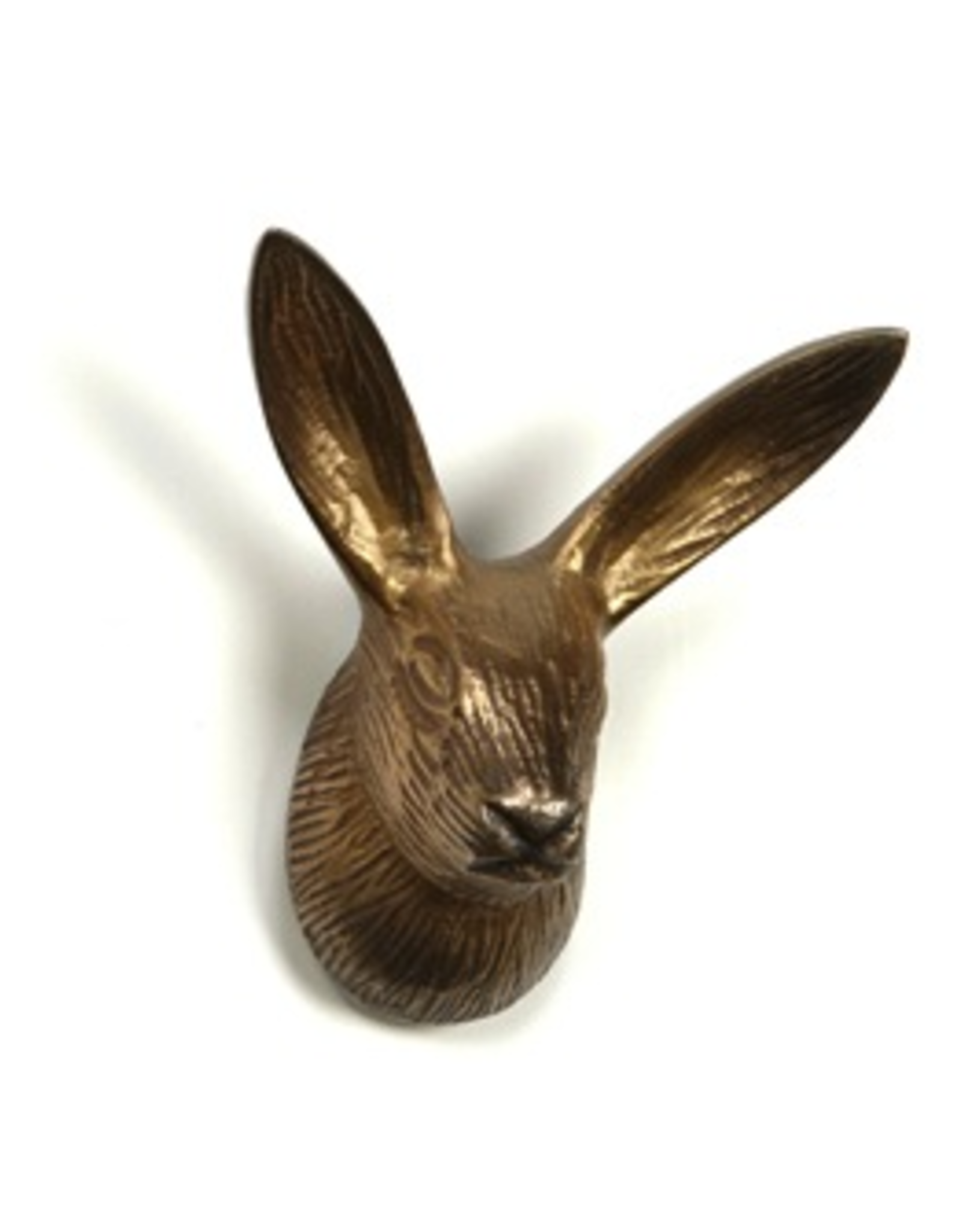 Antiqued Gold Bunny with Long Ears Hook