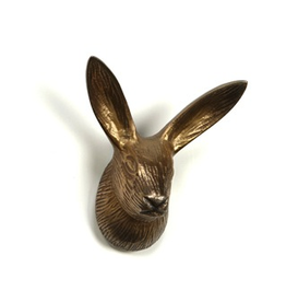 Hook, Bunny with Long Ears, Antiqued Gold