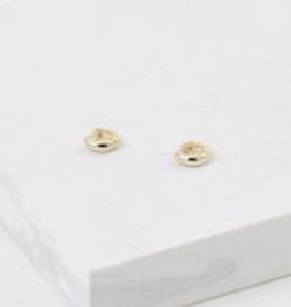 Earrings, Bea Hoop, Gold plated brass