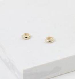 Gold Plated Brass Bea Hoop Earrings
