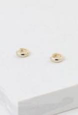 Earrings, Bea Hoop, Silver plated brass