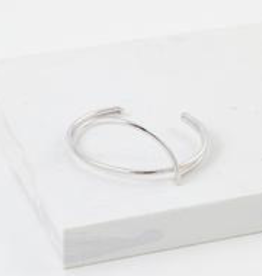 Bracelet, Bangle, Half Moon, Silver Plated Brass
