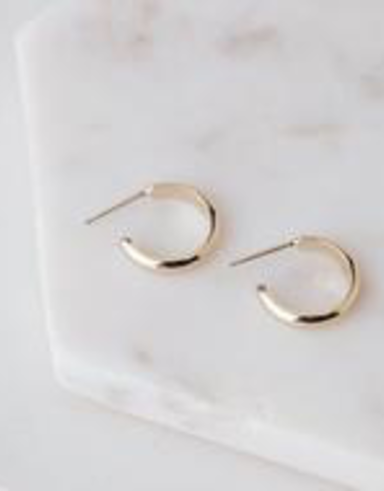 Gold Plated Brass Silvia Hoop Earring