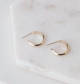 Gold Plated Brass Silvia Hoop Earring