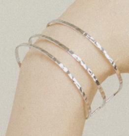 Sayla Hammered Bangle - Silver