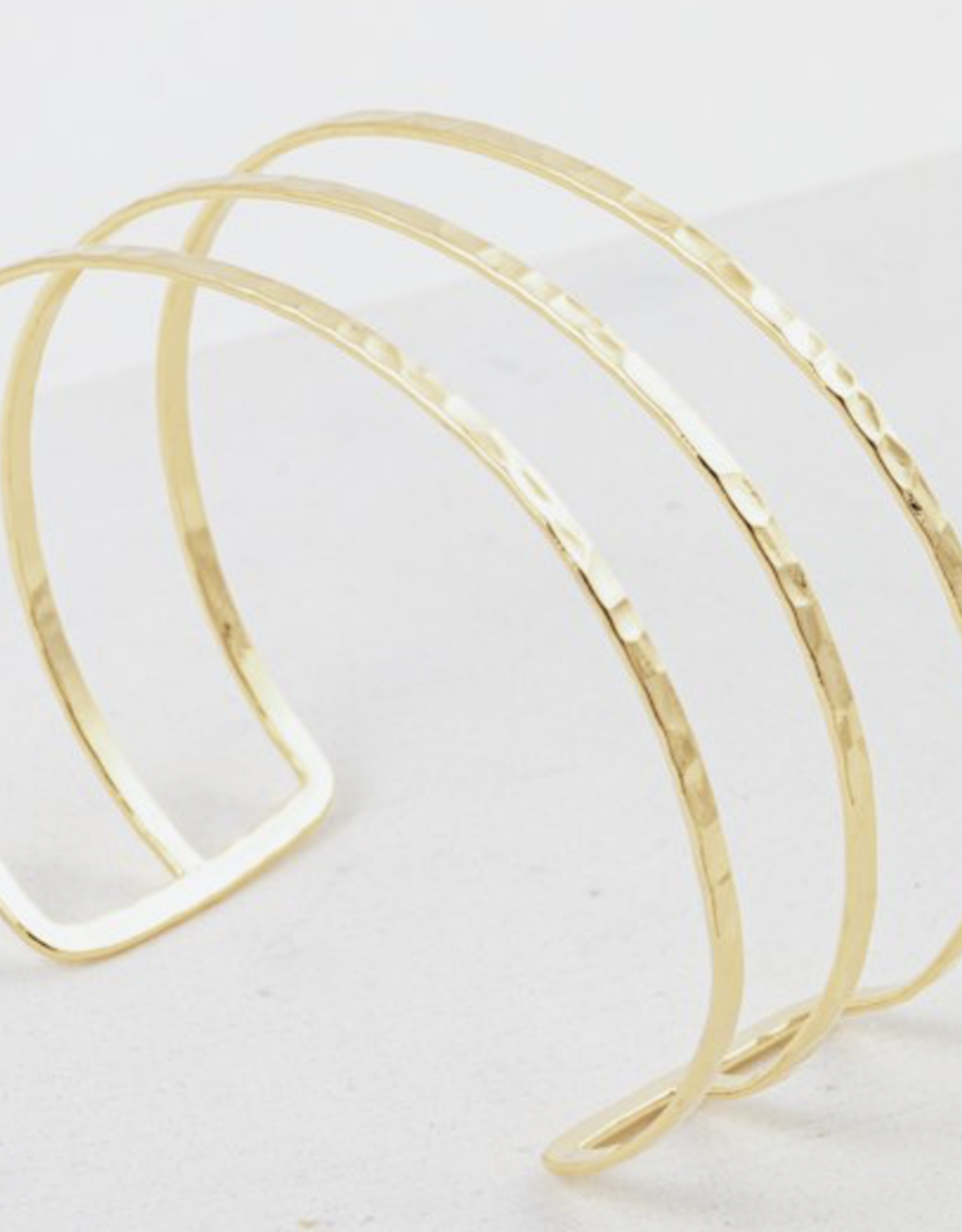 Gold Plated Brass Sayla Hammered Bangle