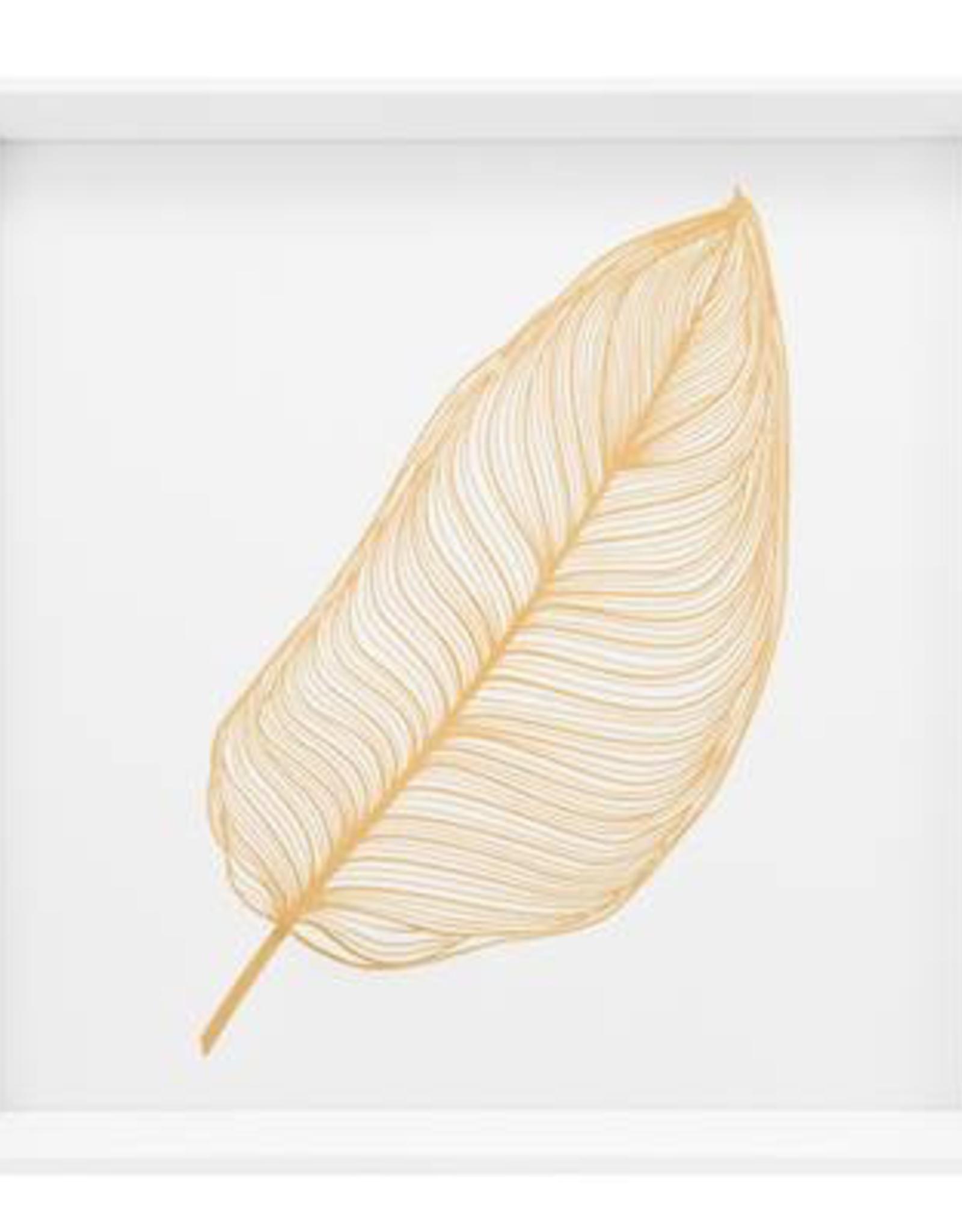 "Print, Canvas, Gold Banana Leaf, 17"" Square"