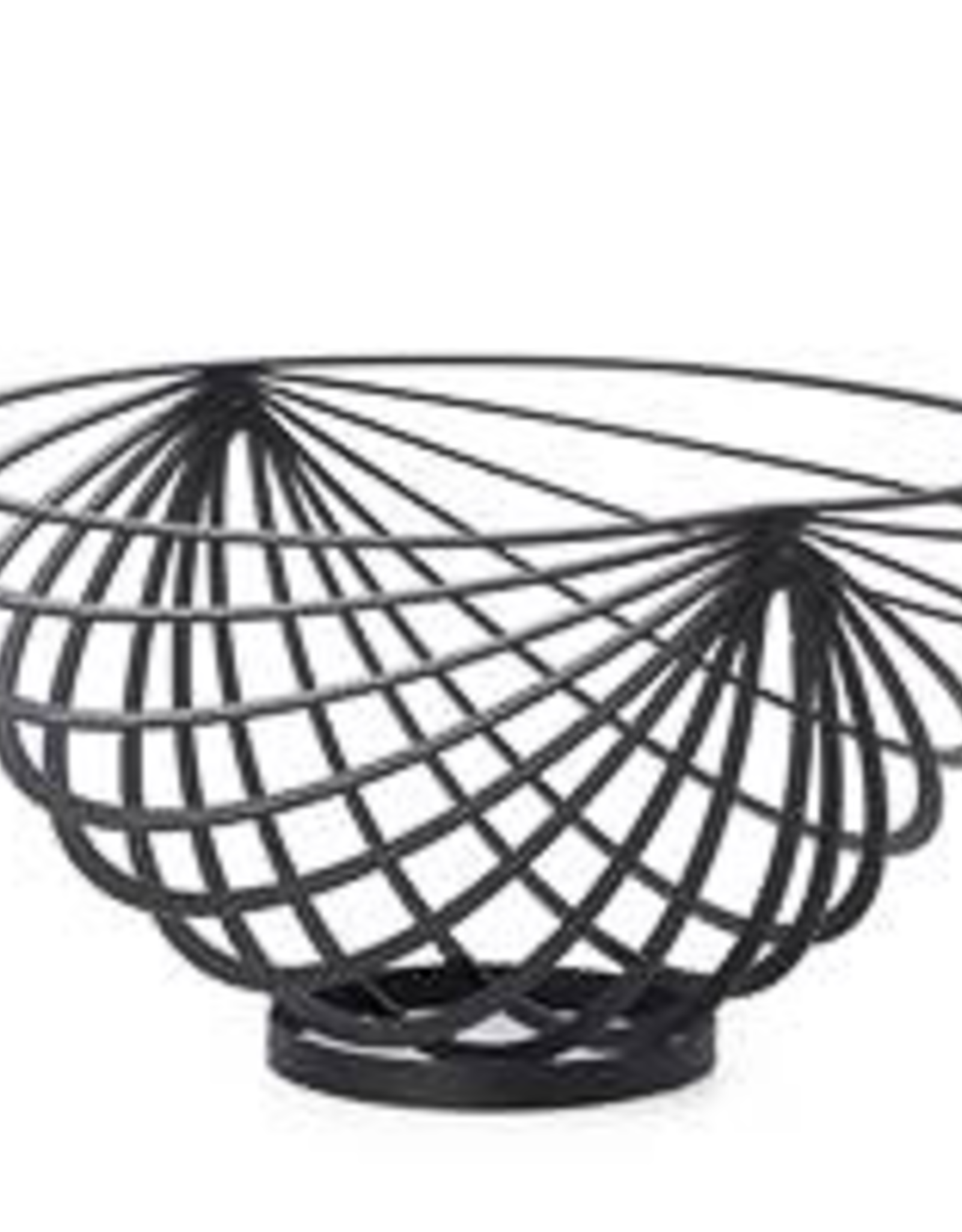 Basket, Fruit, Eclipse Rib, Black