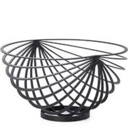 Black Ecliipse Rib Fruit Basket