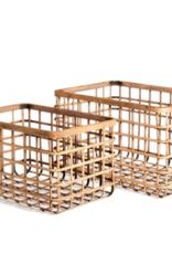 Basket, Natural Bamboo, Rectangular, Sm