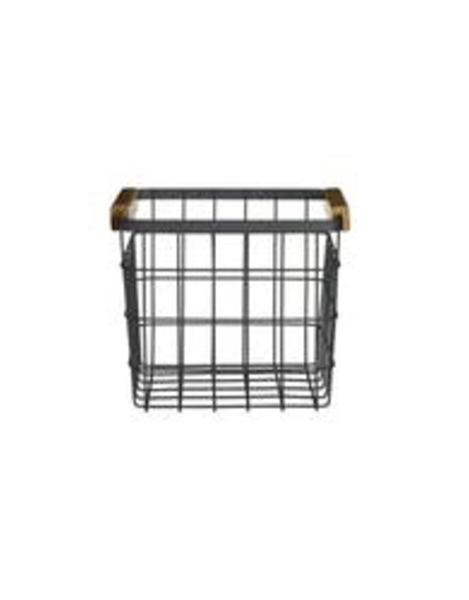 "Basket, Wire Sutton, Small Matte Black, 6.9"""