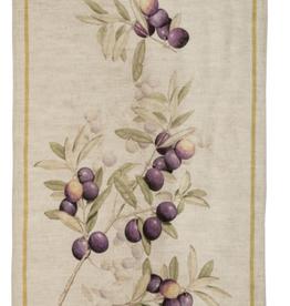 Tea Towel, Linen, Aida Morellino Olive