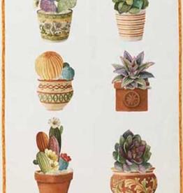 Tea Towel, Linen, Kactus Arancio