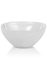 "5.5"" White Alabaster Glass Monte Carlo Bowl"