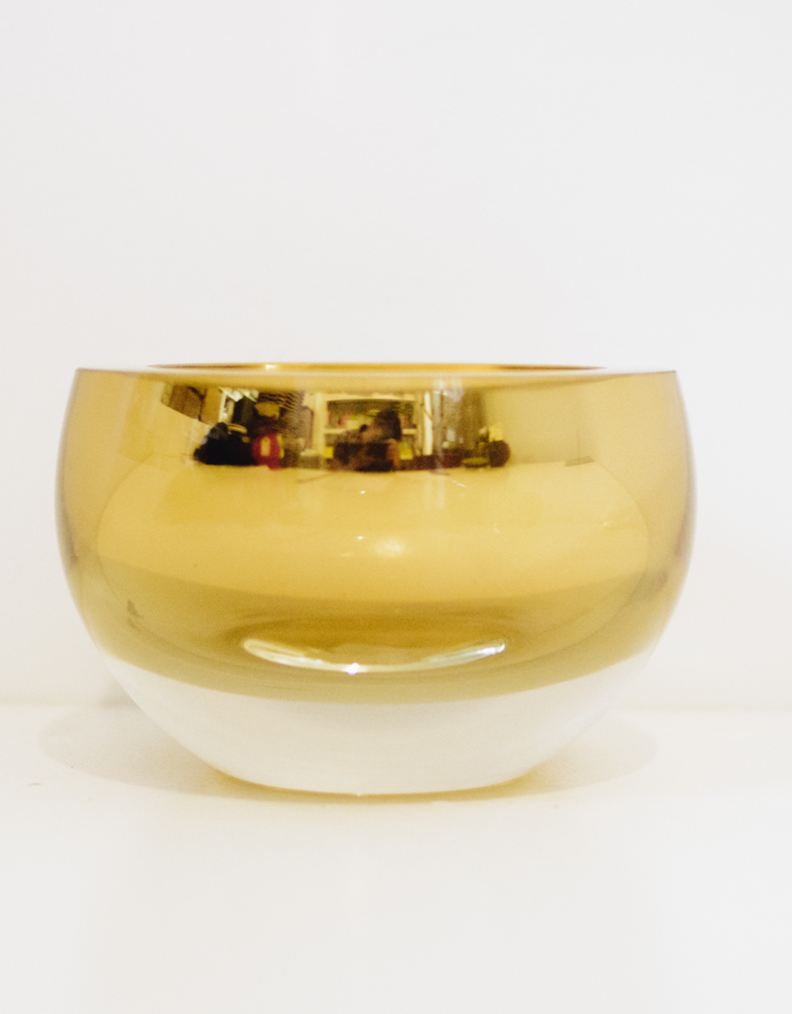 """Gold Glass Bowl Host, Large, 6"""""""