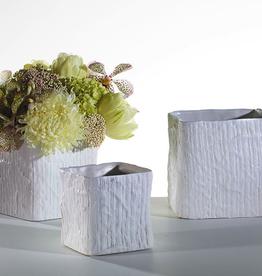 "Linen Cube Pot 5.5x5.5"""