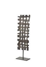 "Decorative Object, Shaw II, Gun Metal Grey, H21.1"""