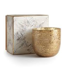 Luxe Sanded Mercury Glass Winter White Candle