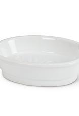 "5"" White Oval Ceramic Soap Dish"