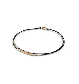 """6.5"""" Black Andromeda Bracelet"""