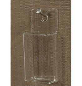 Rectangular Glass Wall Pocket