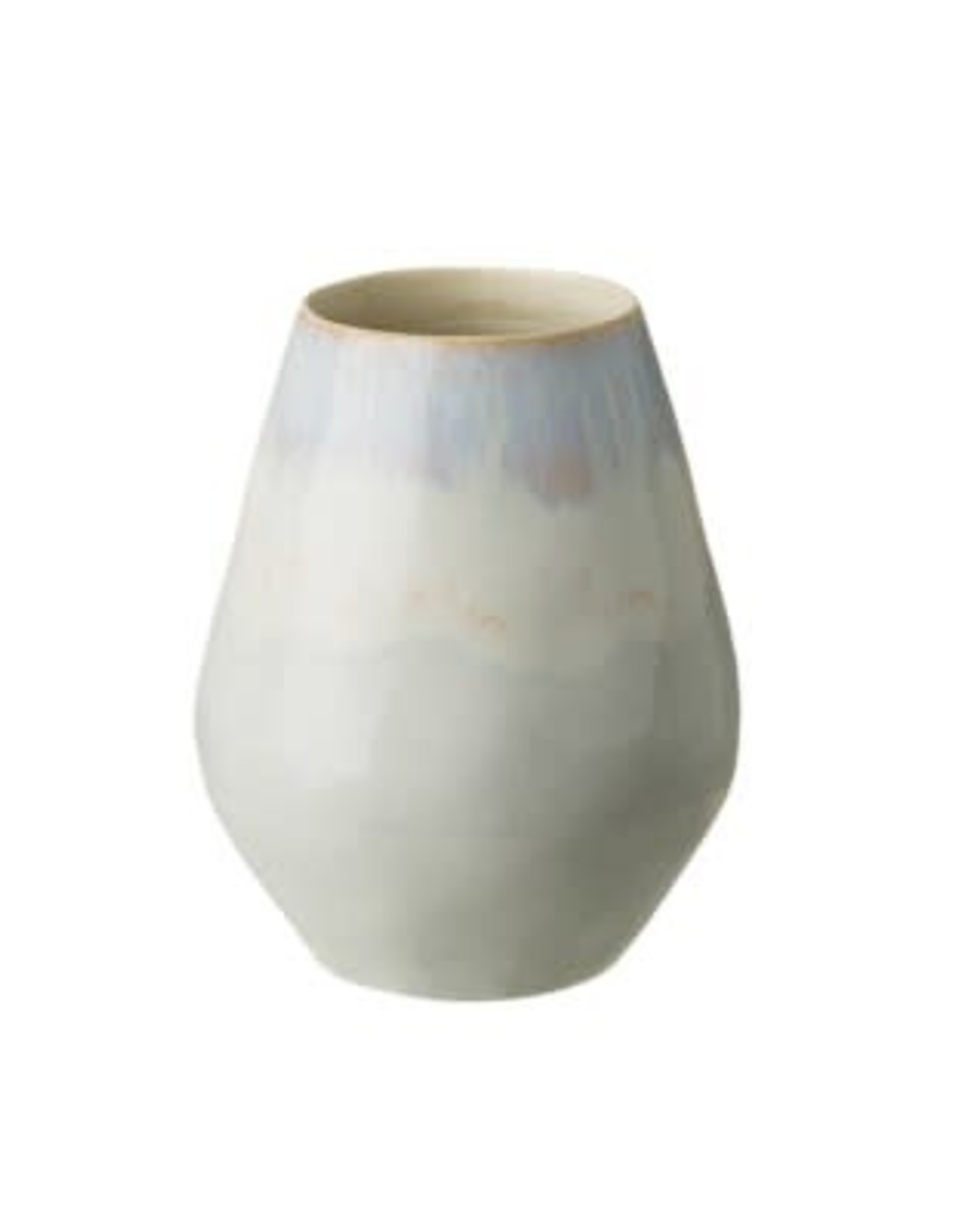 "Brisa Salt Oval Vase H7.8"""