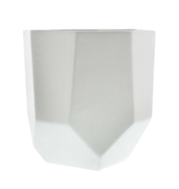 Medium Matte White Lund Ceramic Pot 5.5""