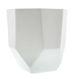 Large Matte White Lund Ceramic Pot 6.5""